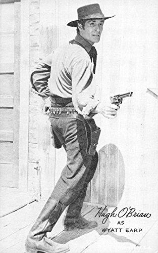 Hugh O#39;Brian as Wyatt Earp studio picture blank back antique pc Y11892