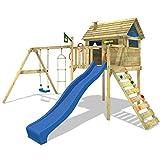 WICKEY Smart Plaza Parques infantiles Toboganes Columpios Caj�n de arena azul Toboganes / azul techo