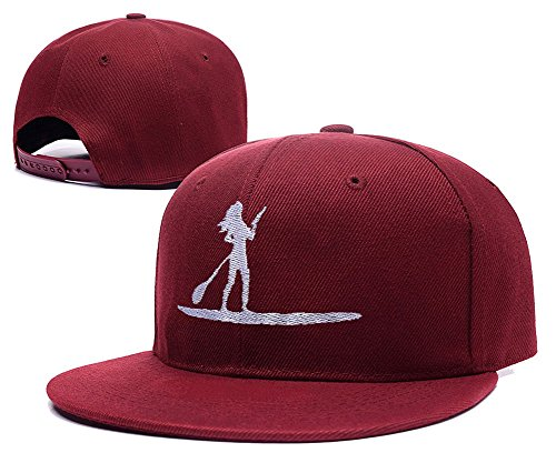xida-stand-up-paddleboard-adjustable-embroidery-snapback-hat-cap-red