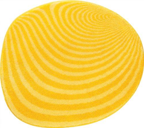 Grund 351242088 Badteppich rund Pebble, 70 cm, gelb