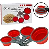 Collapsible Measuring Cups - 4pc Nesting Silicone Set By Good Cooking
