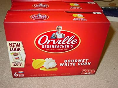 Orville Redenbacher's Gourmet White Popcorn Pop up Bowl, 6 Count (Pack of 3)