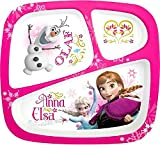 Zak Designs Disney's Frozen 3-Section Plate