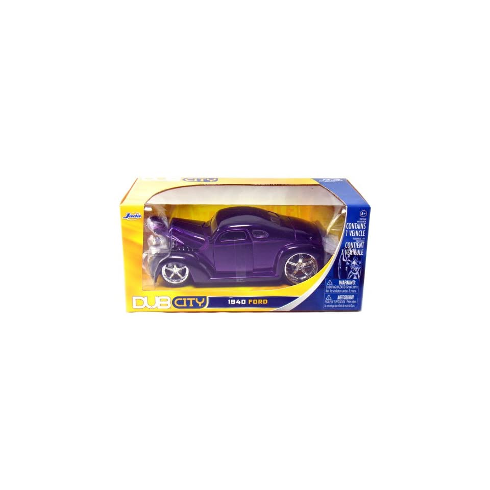 1940 Ford Coupe 1/24 Scale DUB City from Jada (Purple)