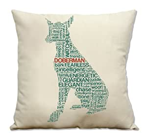 Cotton Throw Pillow Inserts : Amazon.com - Doberman Cotton Canvas Throw Pillow Cover with Insert - Doberman Gifts