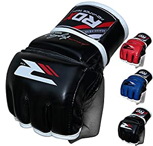 RDX Maya Hide Leather MMA Grappling Gloves UFC Cage Fighting Sparring Glove Training F11