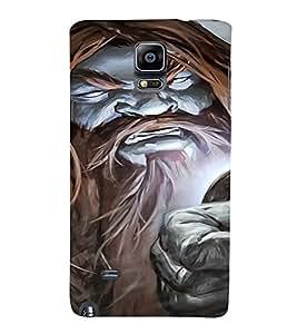 PrintVisa Villain Art Man Design 3D Hard Polycarbonate Designer Back Case Cover for Samsung Galaxy Note 4