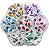 Decora 140pcs 12mm Mixed Colors Wiggly Eyes with Eyelash with Self-adhesive DIY Scrapbooking Crafts Toy Accessories