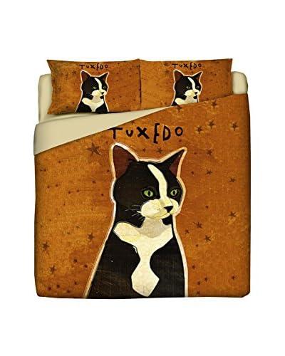 LITTLE FRIENDS by MANIFATTURE COTONIERE Juego De Funda Nórdica Tuxedo Cat