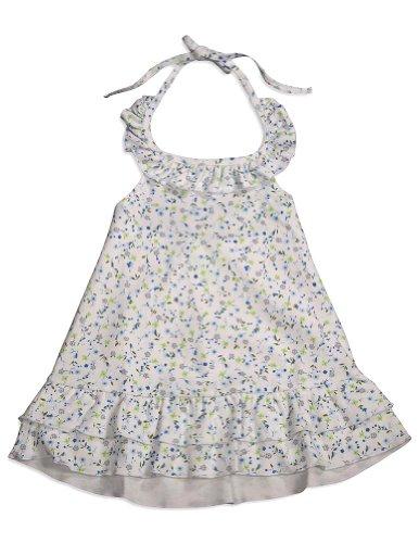 Snopea - Baby Girls Baby Bluebells Halter Dress, White, Blue 29681-9Months front-940015