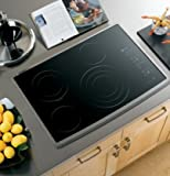 GE Profile CleanDesign : PP945SMSS 30 Smoothtop Electric Cooktop - Black Surface, Stainless Steel