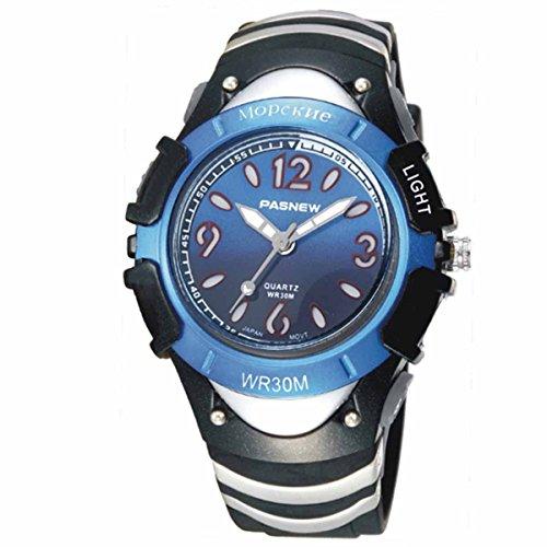 PASNEW Ori-0848 特別なデザイン防水スポーツ腕時計子供男の子女の子ディープ ブルー