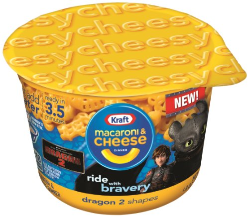 Kraft Easy Mac Cups Fun Dragon 2 Shapes, 1.9 Ounce (Pack Of 10)