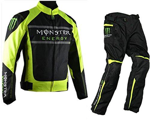 モンスター モータースポーツ保護オートバイセット アンダー・インナーウェア  運動 (セット, XL)