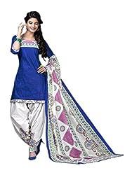 Sprashant Women's Cotton Dress Material (Blue1006)