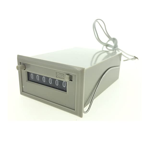 YXQ 24VDC 6 Digits Mechanical Electromagnetic Counter CSK6-DKW with 2 Wires (Tamaño: 6 Digits)