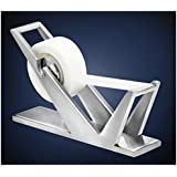 ArtsOnDesk Modern Art Tape Dispenser St202 Stainless Steel Satin Finish Patented Luxury High-end Desk Accessory Office Organizer Scotch Cutter Holiday Gift Corporate Gift