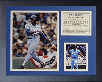 "Legends Never Die ""Bo Jackson Kansas City Royals"" Framed Photo Collage, 11 x 14-Inch"