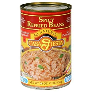 Casa Fiesta Refried Beans Spicy 16-ounce Pack Of 12 from Casa Fiesta