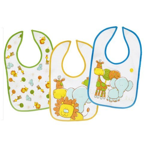 Ganz Baby Bibs 3-piece Coordinating Set, Jungle Animals - 1