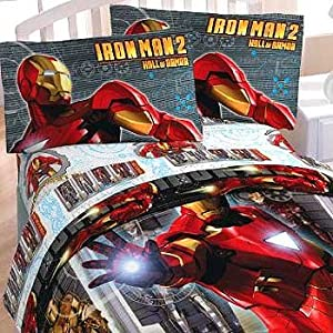 marvel iron man sheet set