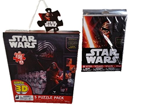 [Star Wars Fun & Games Bundle- 2 Items: Licensed Star Wars 100 3D Lenticular Puzzle Pack 16