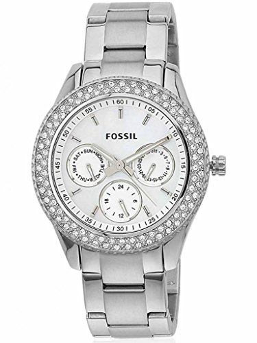 Fossil Women'S Es2860 Stainless Steel Analog With Silver Dial Watch