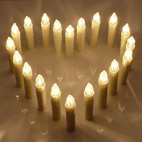 Bougies LED lumineuses avec télécommande, 20 belles bougies pour toutes les occasions spéciales by CASCACAVELLE