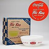 コカ・コーラ×Fire‐King(ファイヤーキング) 15oz ボウル 1960s Fishtail Logo