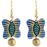 Scorched Earth Scorched Earth Terracotta Everyday wear Terracotta Earrings SEE21a09 Blue Ceramic Dangle & Drop For Women