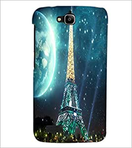 PrintDhaba Tower D-2848 Back Case Cover for HUAWEI HONOR HOLLY (Multi-Coloured)