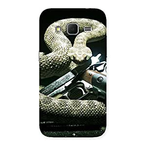 Special Gun And Rattle Snake Back Case Cover for Galaxy Core Prime