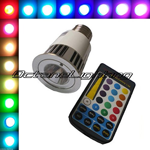 Octane Lighting 5W E27 Led Rgb Color Changing Bar Dj Pool Table Night Club Lamp Light Bulb front-16698