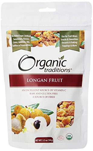 Organic Traditions Dried Organic Longan Fruits, 3.5 Ounce