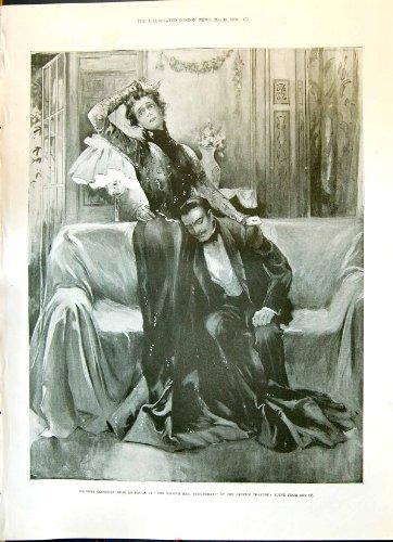 una-stampa-antica-del-fuoco-1900-di-signora-eleonora-tanqueray-lyceum-theatre-ottawa-c