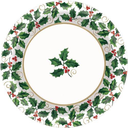 Seasonal Holly Dessert Plates (40ct)