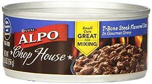 Alpo Wet 24-Pack Chop House T-Bone Steak Flavored Cuts in Gourmet Gravy Can, 5.5-Ounce