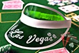 Professional Green Las Vegas Casino Dealer Visor Hat