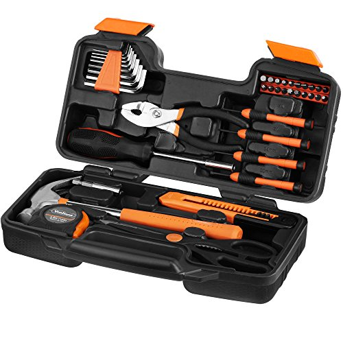 64 off vonhaus orange 39 piece tool set general household hand tool kit with plastic toolbox - Household tools ...