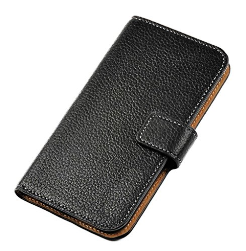 Mylife Jet Black And Copper Brown {Flat Color Design} Faux Leather (Card, Cash And Id Holder + Magnetic Closing) Slim Wallet For The All-New Htc One M8 Android Smartphone - Aka, 2Nd Gen Htc One (External Textured Synthetic Leather With Magnetic Clip + Int
