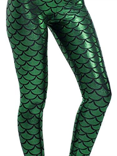 lotus-instyle-fisch-waage-drucke-leggings-strecke-hose-sexy-strumpfhose-deepgreen-l