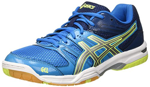 Asics Gel-Rocket 7, Scarpe da Pallavolo Uomo, Multicolore (Blue Jewel/Glacier Grey/Safety Yellow), 42 EU