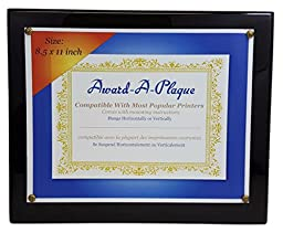 Silverstar Piano Black Wood Award Plaque with High Gloss Finish 10.5x13 Inch for 8.5x11 Inch Awards 2-Plaques