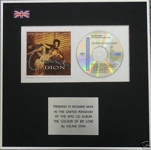 celine-dion-cd-album-award-der-farbe-my-love