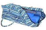 Large Yoga Equipment Kit Bag - Stripey Blue