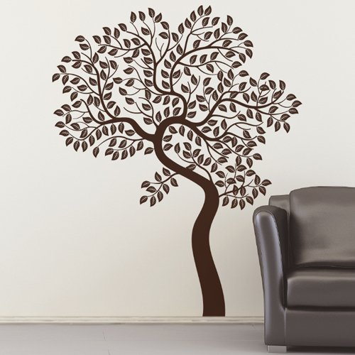 Tree vinyl wall decal sticker art home decor mural brown original tree bran - Decor mural original ...