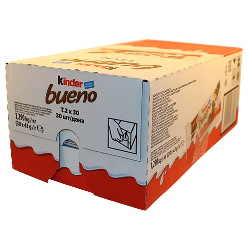 Kinder Bueno, CASE, 43 g x 30 bars, chocolate
