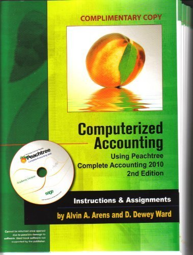 Computerized Accounting Using Peachtree Complete...