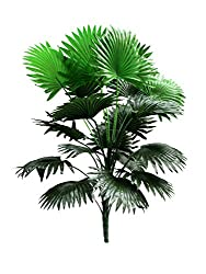 Fourwalls 60cm Artificial Palm Tree with 21 Leaves