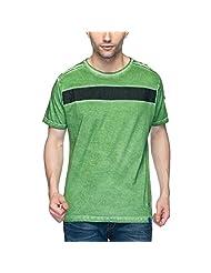 Garcon Men's Cotton Crew Neck T-Shirt (8902795012560_GR 3087_Green_Medium)